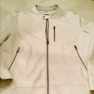 Guess White Faux Leather Jacket